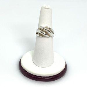 Tiffany & Co. 925 & 18k gold Milgrain Dome Ring